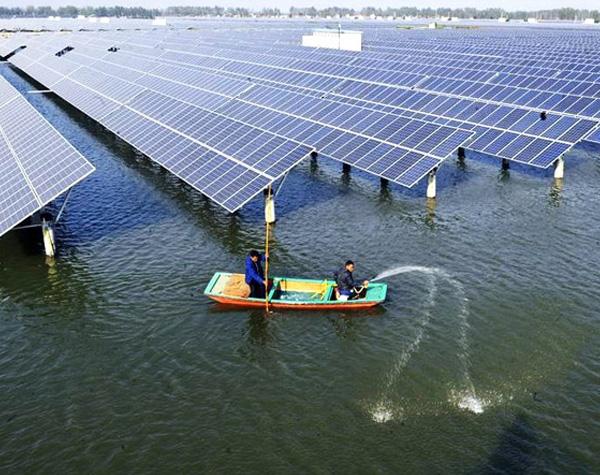 湖泊(漁光互補)光伏發電系統