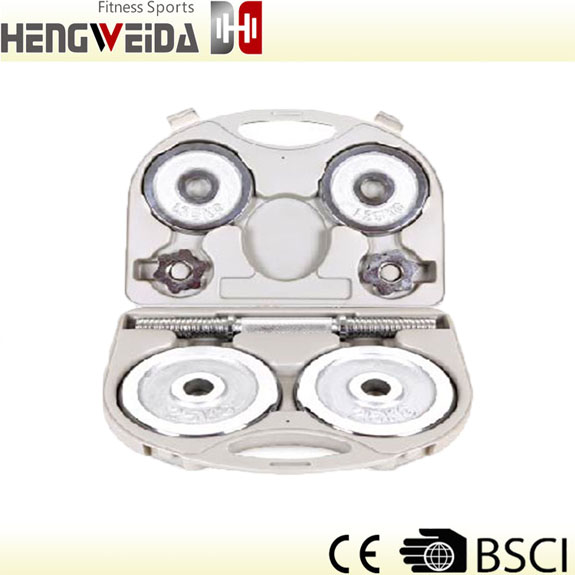 HWD3209-10KGS Chromed Dumbbell Set