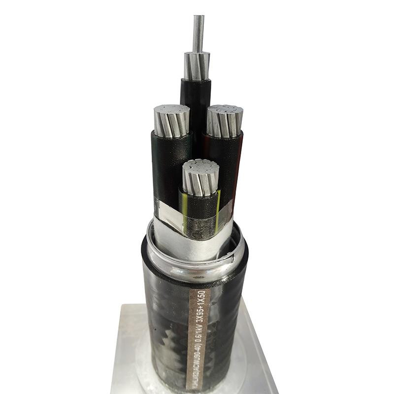 铝合金电缆YJHLV82ACWU90-40) 0.6/1kV 3X95+ 1X50