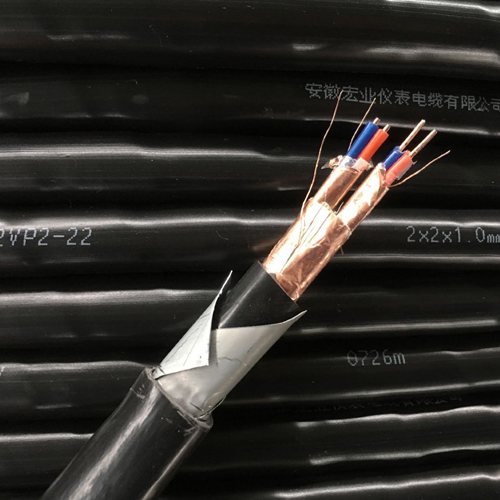Flame retardant shielded armored computer cable
