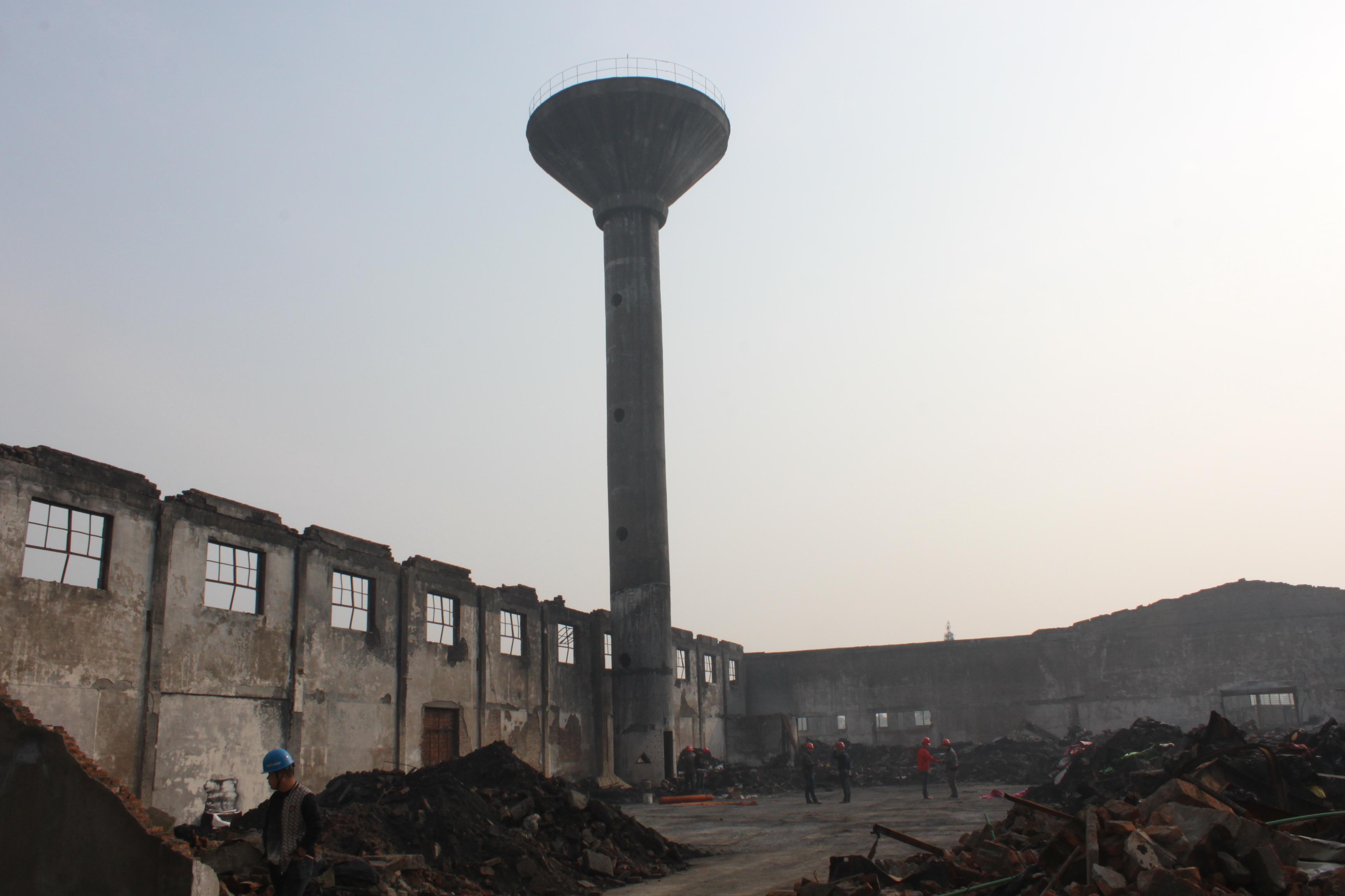 绍兴市兴发印花化工有限公司水塔爆破拆除工程