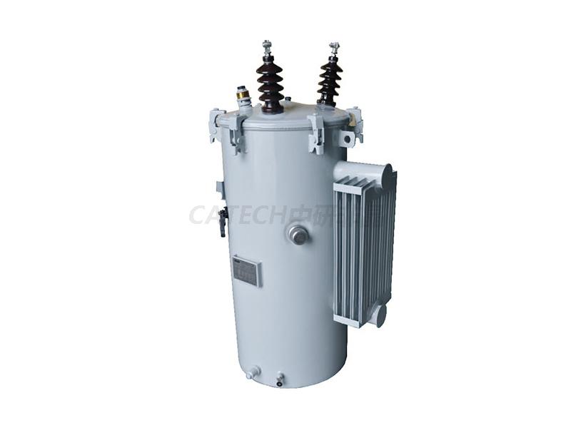 非晶合金单项柱上式变压器