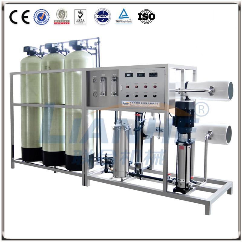 2T/h一级反渗透水处理(玻璃钢三柱,手动阀)