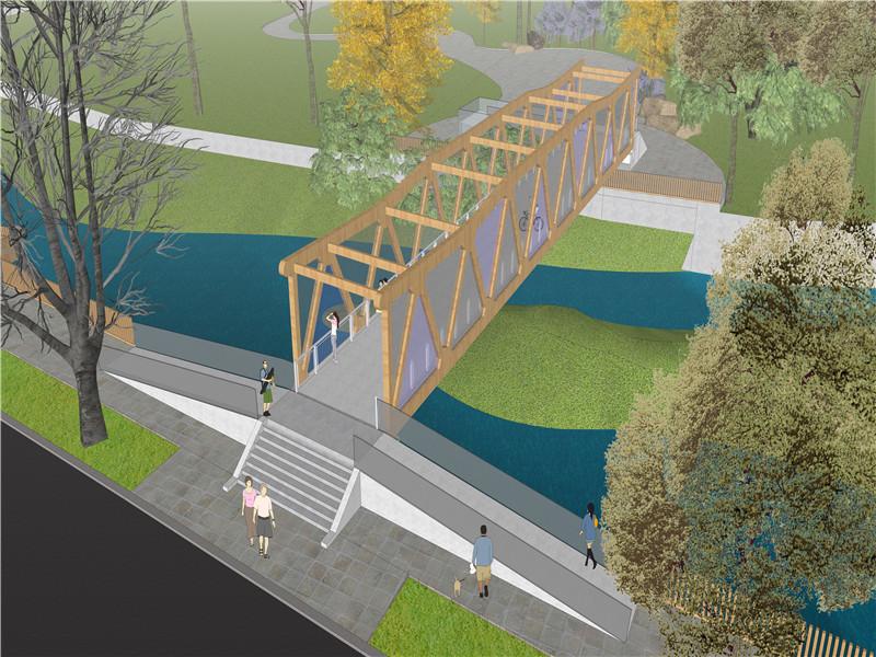 祁連縣八寶河景觀人行橋建設及舊橋景觀提升工程初步設計