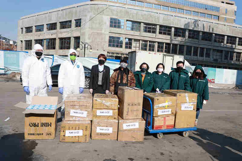 中冶沈勘向沈陽市紅十字會捐獻醫用物資
