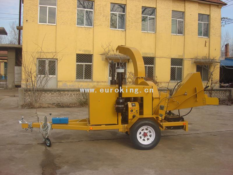 Diesel Wood Chipper With Double Hydraulic Rollers