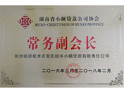 經灃小貸公司——省小貸協會常務副會長單位