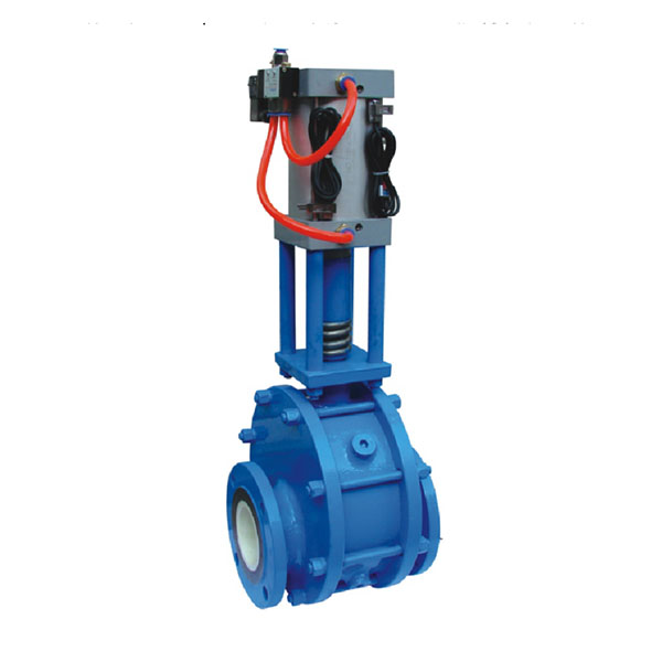 Sz644tc pneumatic ceramic double gate valve