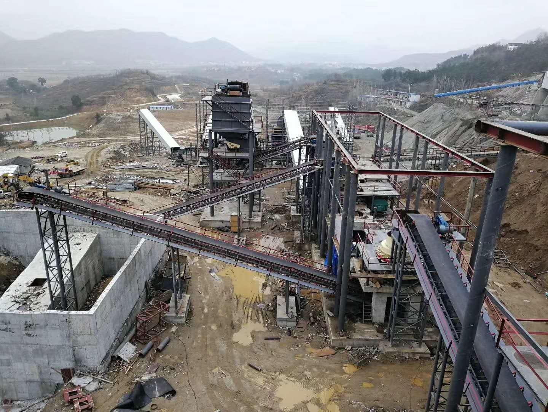 時產1000噸碎石安裝現場2