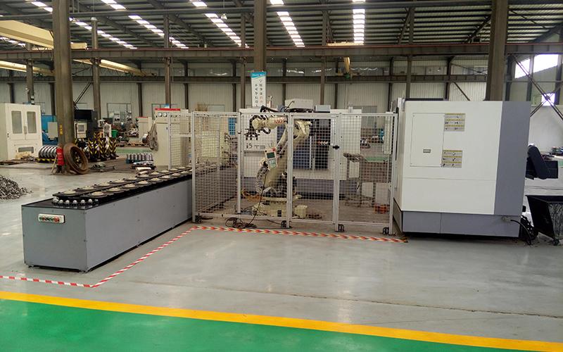 六關節工業機器人法蘭生產線