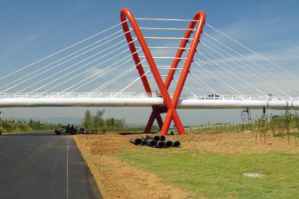 寧常高速公路方山分理式立交橋
