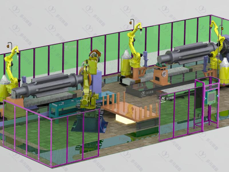農機工程行業:筋軸焊接工作站