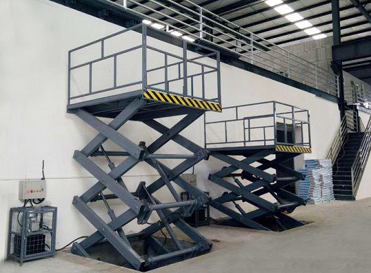 多剪叉式升降貨梯