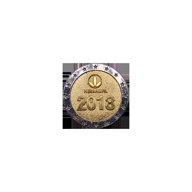 中国2018双色电镀纪念币
