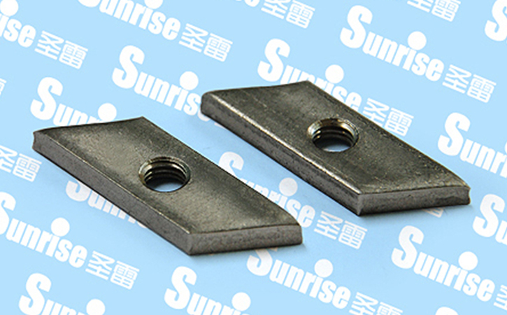 Stainless Steel Rectangle Threaded Plate
