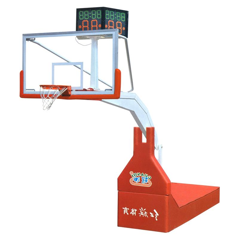 HQ-1001A  比賽用電動液壓籃球架