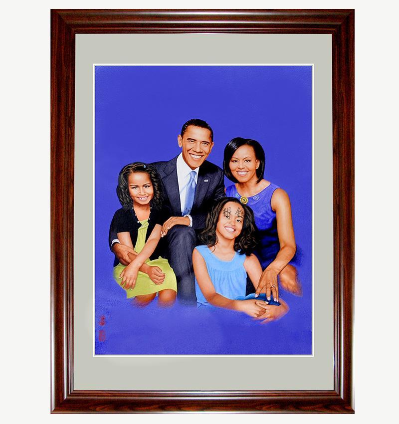沈繡國禮《奧巴馬總統合家歡》
