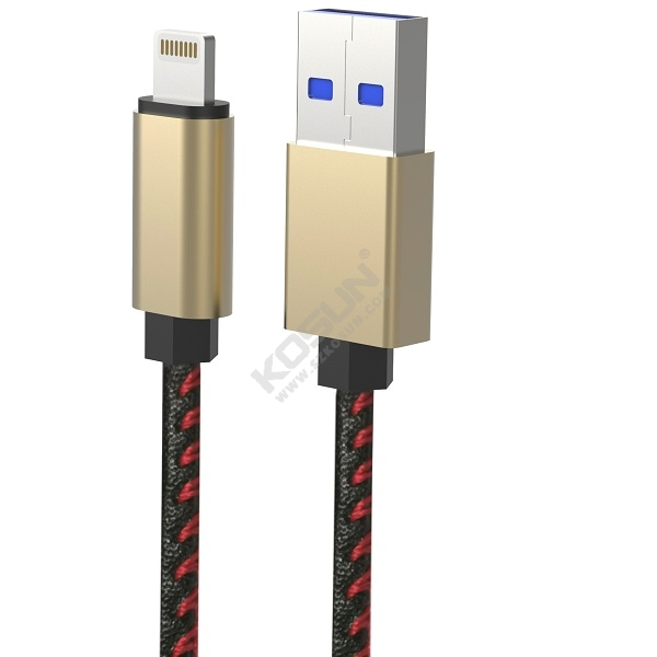 2.4A PU lightning data and charging cable