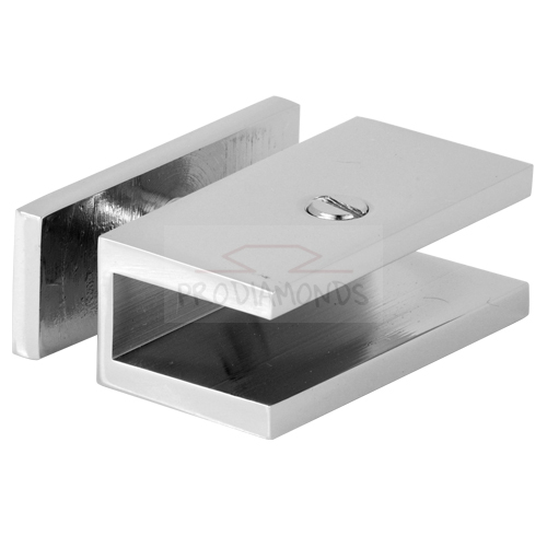 Thru-Glass Square Shelf Clamp
