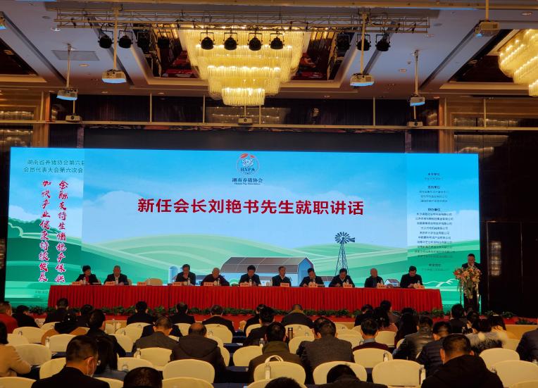新五豐黨委副書記、副董事長、總經理劉艷書高票當選湖南生豬產業協會理事會會長
