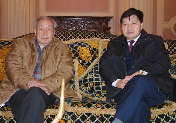 与著名经济学家刘诗白教授交流