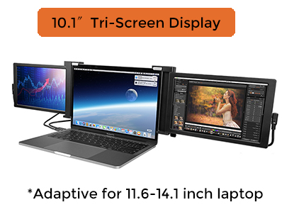 10.1 inch 1080P IPS HDR USB-C portable monitor for laptop with dual screen and triple screen
