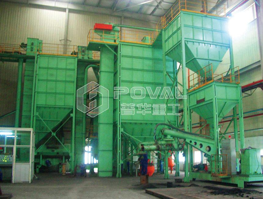 樹脂砂處理工藝生產線