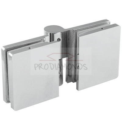 Rising Shower Door Hinge with masking plate glass to glass Right