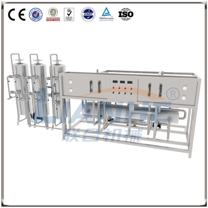 3T/h二级反渗透水处理(不锈钢三柱,手动阀)