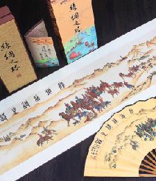 14-5-06陸上絲綢之路扇面(彩�。�