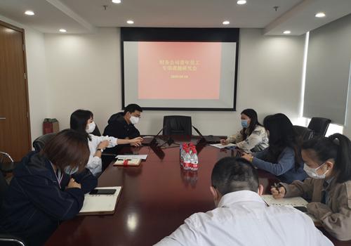 财务公司团支部组织青年员工开展专项课题研究会