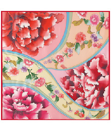 1-1手繪大方巾-02姹紫嫣紅