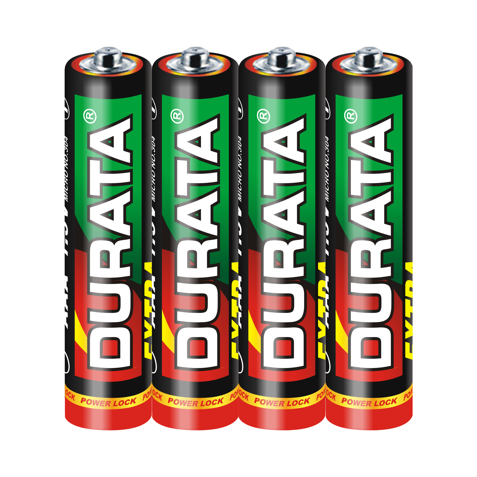 DURATA Size AAA - Shrink Pack 4 Batteries