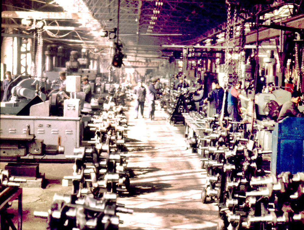 Production line in 1980s