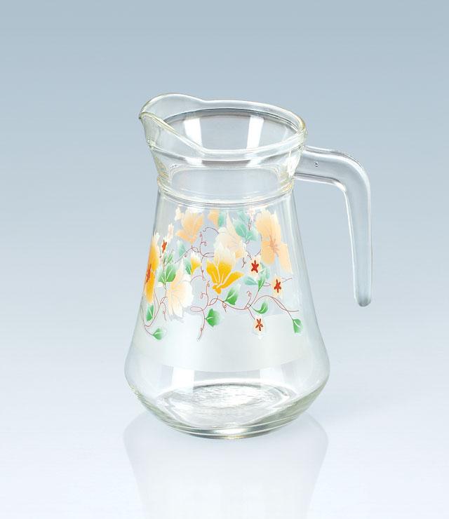 ,貼花冷水壺玻璃瓶