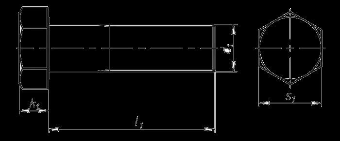 DIN 960_示意图_六角头螺栓