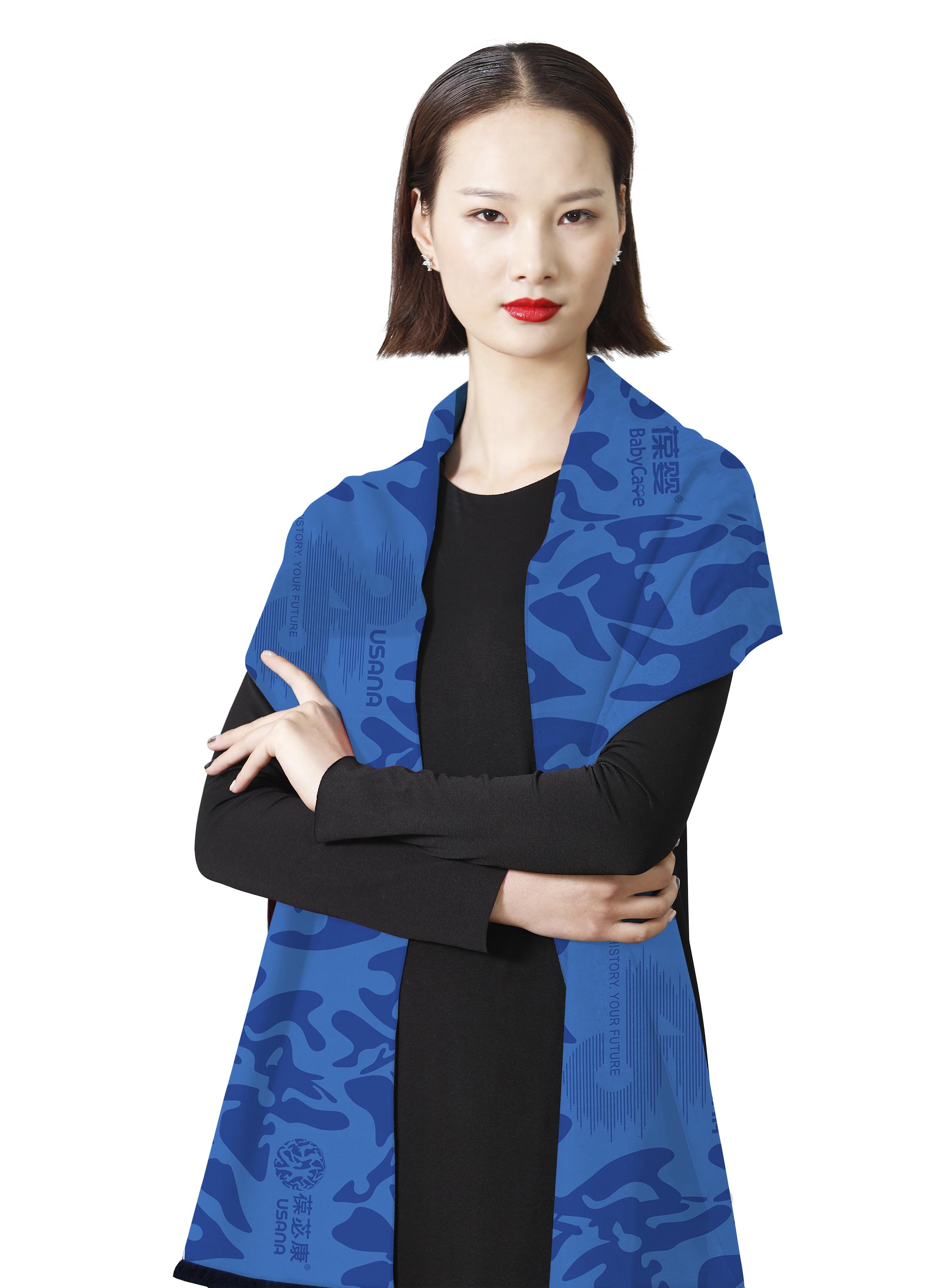 化妝品品牌葆嬰之LOGO慶典圍巾