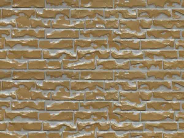 Light brown and yellow overcoated brick with red small brick pattern (Z1-QZH02)