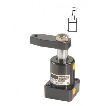 HSC 油压转角缸 MF 深孔型附调速(免配管路)