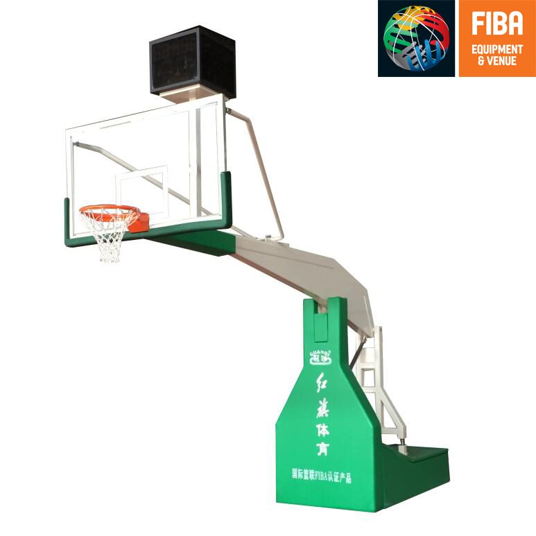 HQ-F10002  Electric  hydraulic basketball stand with FIBA certificate
