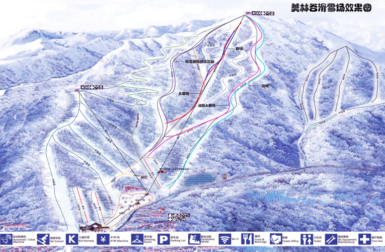 卡賓項目 | 美林谷滑雪場——全國第十四屆冬運會高山滑雪比賽項目場地