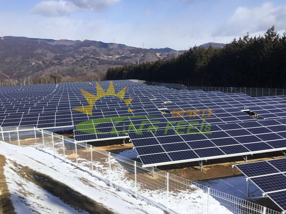 鍍鋅地樁 鋁合金太陽能支架 日本4.4mw