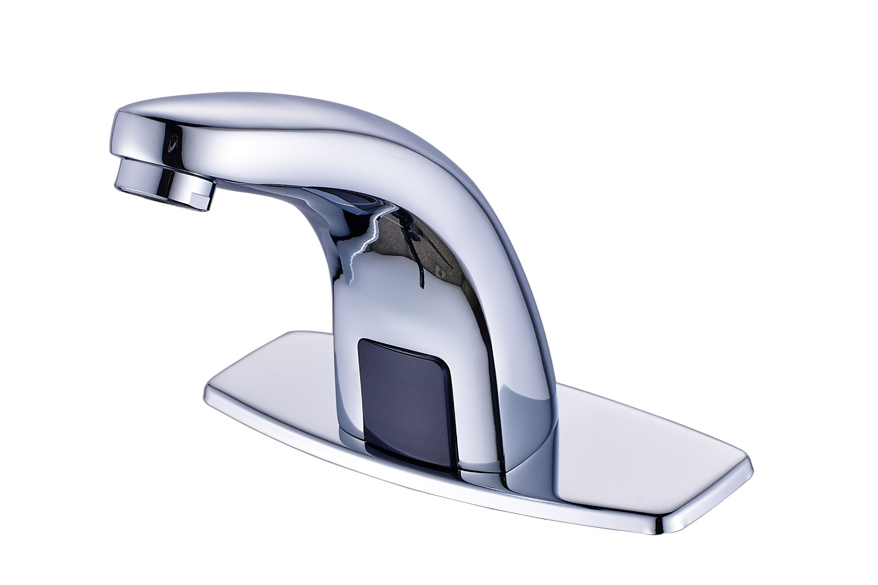 Chrome Automatic Sensor Touchless Bathroom Sink Faucet With Hole Cover Plate
