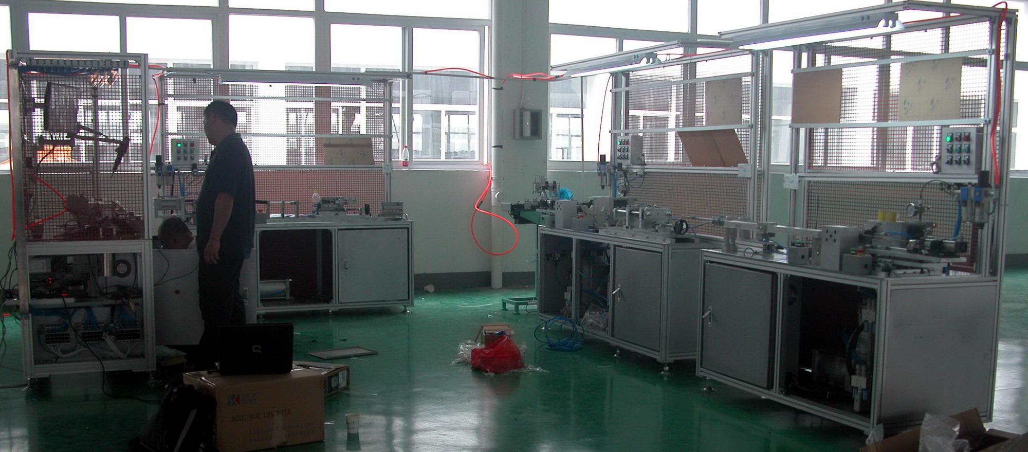 臥式氣液增力鉚機生產線
