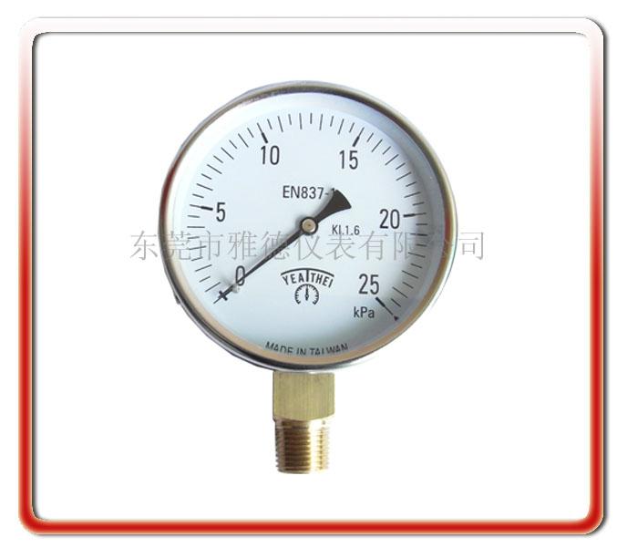 100MM徑向微壓表