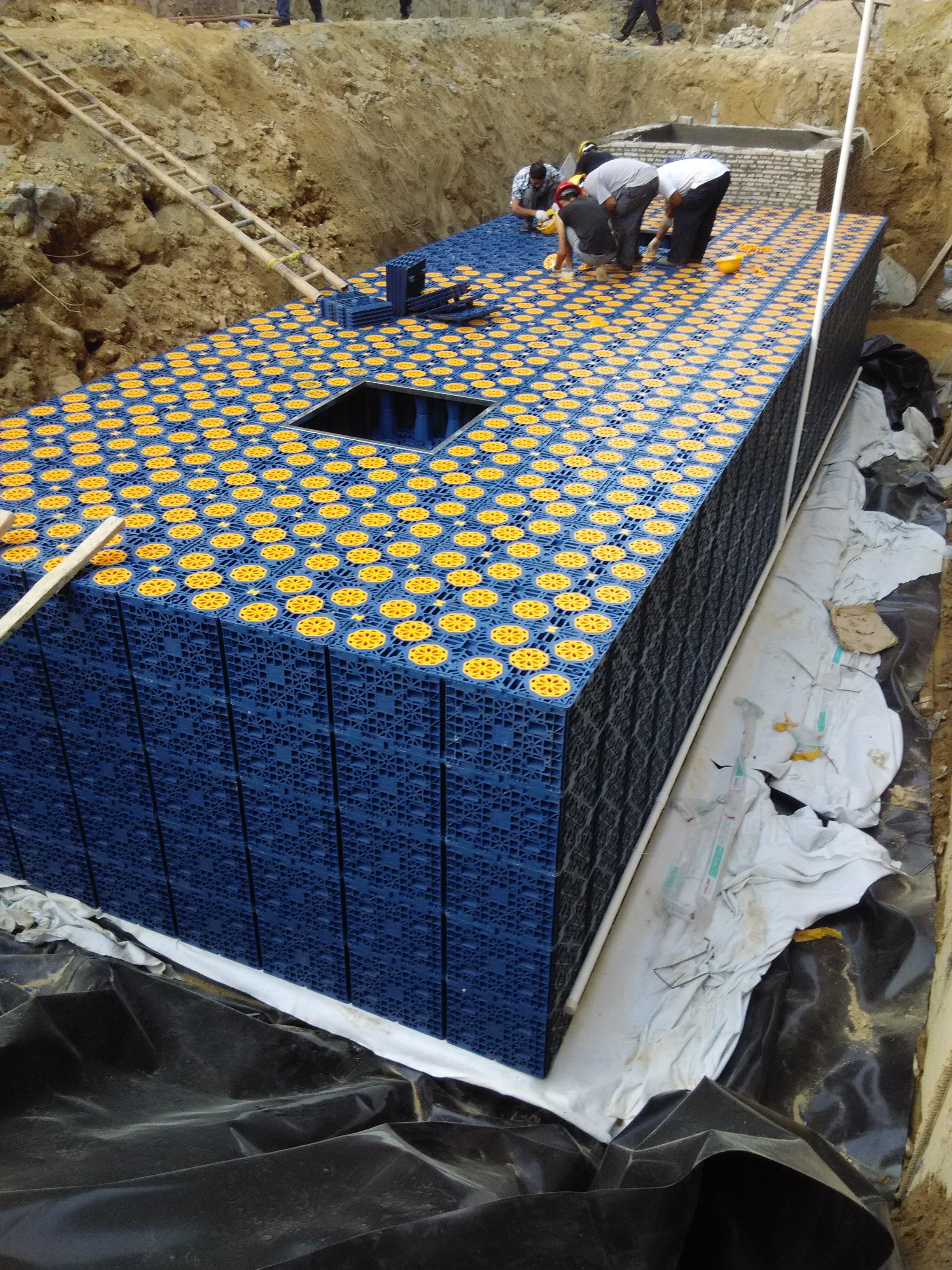 廣州_城市住宅公寓雨水收集利用系統模塊水池項目工程