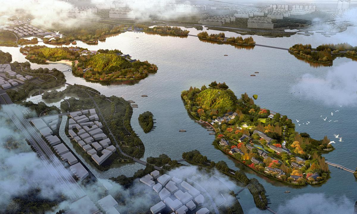 湘湖三期湖堤湖岸北線景觀綠化