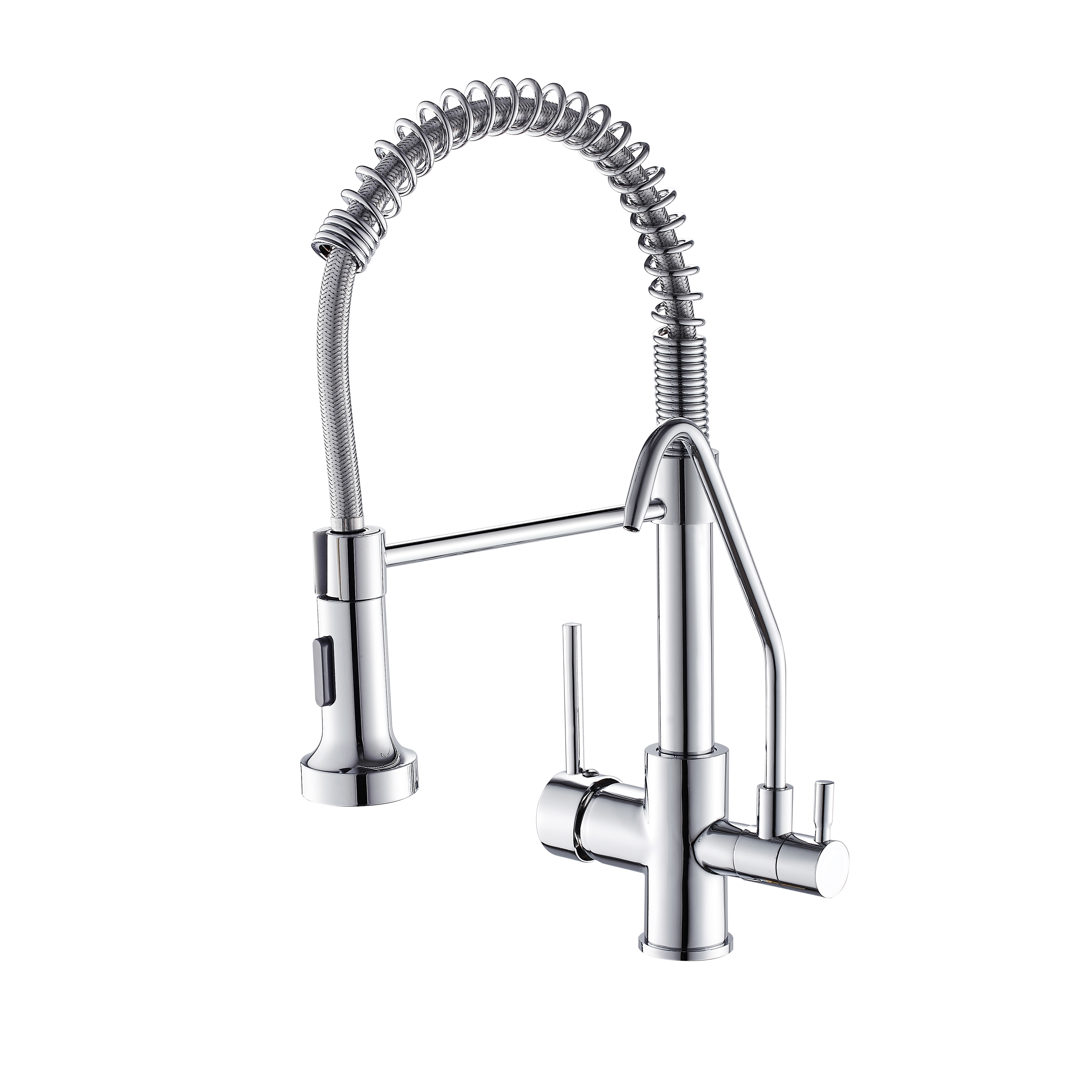 FLG hot sale pull down chrome brass purified kitchen faucets
