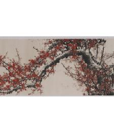 14-2-01红梅争春(大)立體織錦
