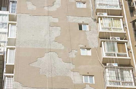 外墻磚脫落,可以考慮巖板
